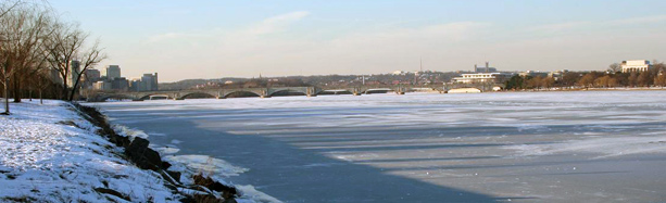 image of potomac river ice